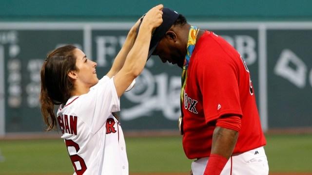 Gymnast Aly Raisman and Retired Red Sox Designated Player David Ortiz