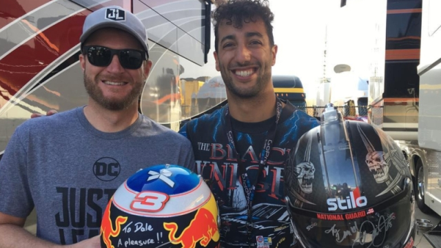 Dale Earnhardt Jr., Daniel Ricciardo
