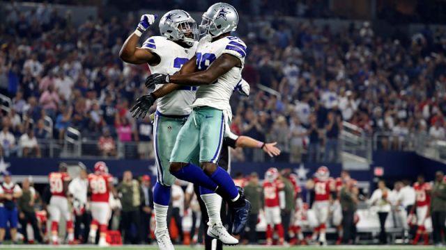 Dallas Cowboys running back Ezekiel Elliott and wide receiver Dez Bryant