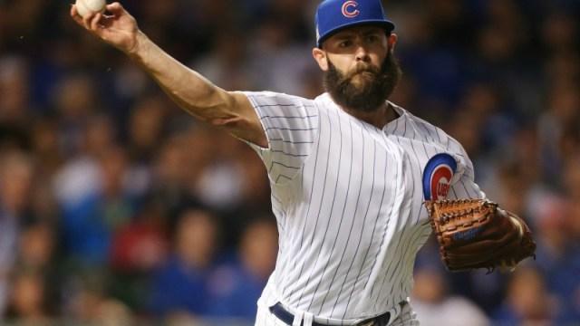Chicago Cubs starting pitcher Jake Arrieta