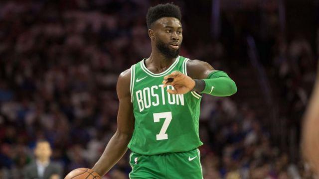 Celtics forward Jaylen Brown