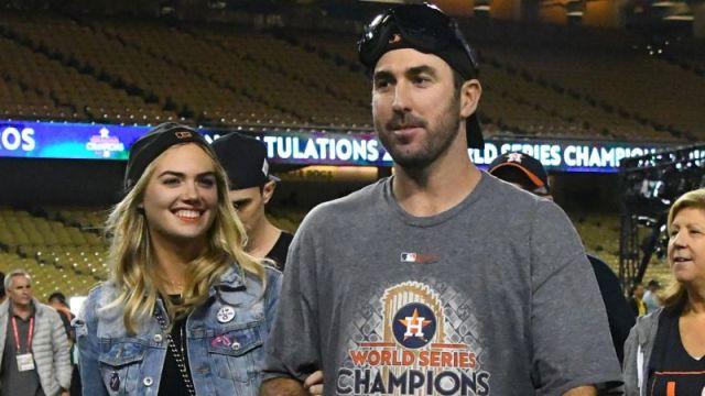 Model Kate Upton and Houston Astros pitcher Justin Verlander