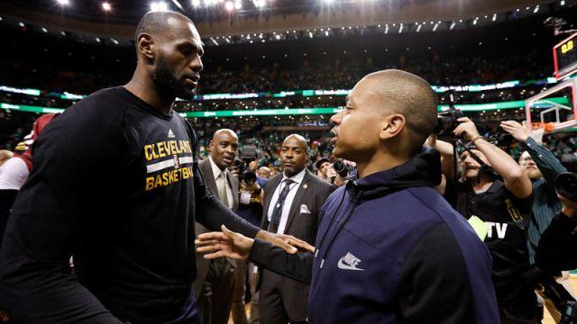 Cleveland Cavaliers forward LeBron James and guard Isaiah Thomas