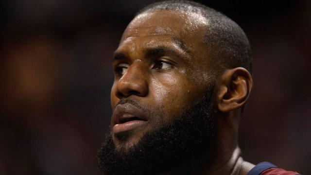 Cleveland Forward LeBron James