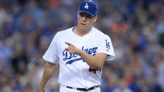 Dodgers starter Rich Hill