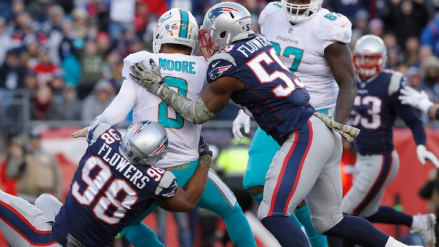 Patriots defensive end Trey Flowers, linebacker Marquis Flowers