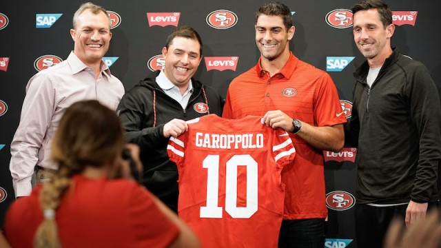 49ers quarterback Jimmy Garoppolo