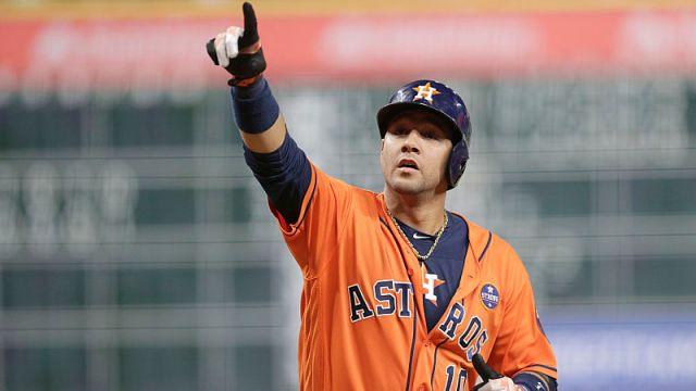 Houston Astros first baseman Yuli Gurriel
