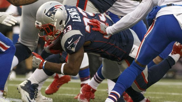 New England Patriots running back Dion Lewis