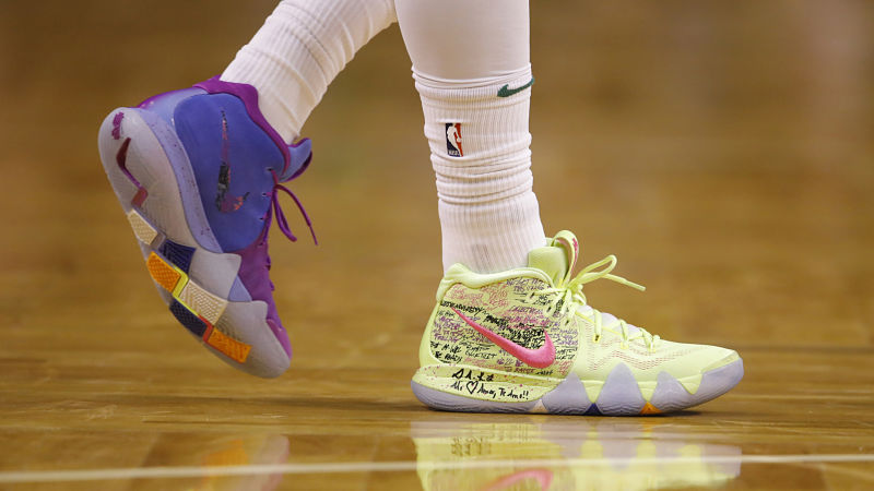 kyrie irving 4 confetti shoes