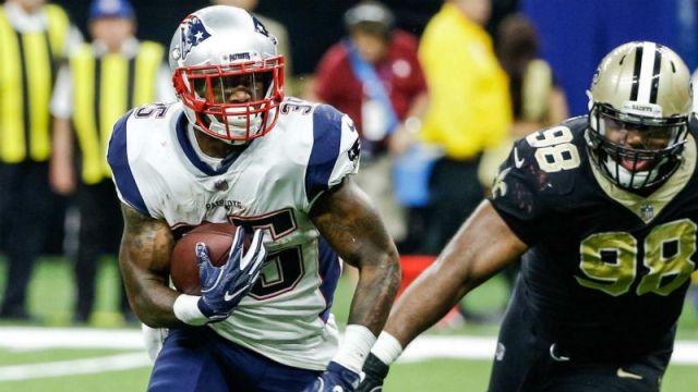 New England Patriots running back Mike Gillislee