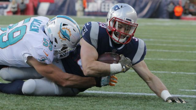 New England Patriots running back Rex Burkhead
