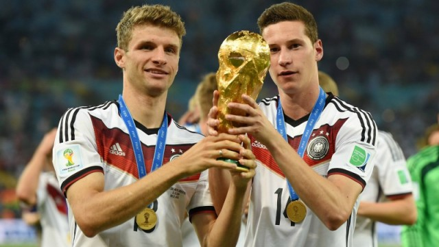 Germany's Thomas Muller and Julian Draxler