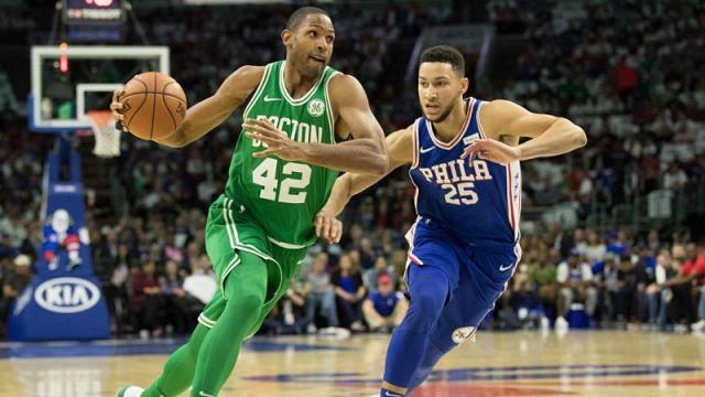 Boston Celtics forward Al Horford and Philadelphia 76ers guard Ben Simmons