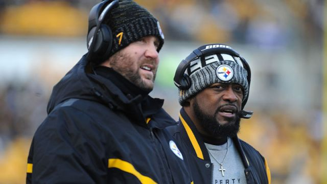 Pittsburgh Steelers quarterback Ben Roethlisberger and coach Mike Tomlin