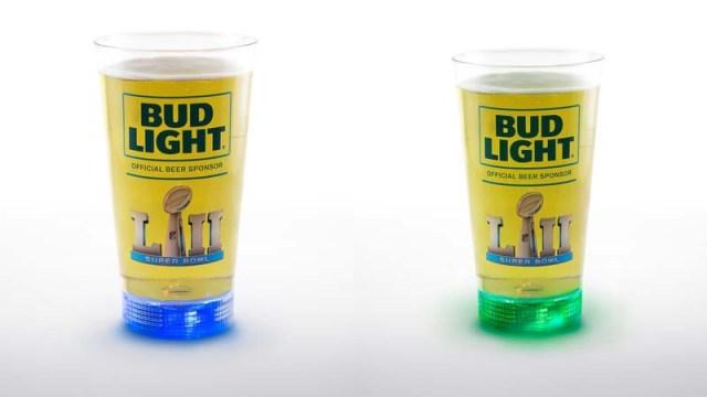 Bud Light Super Bowl Glasses