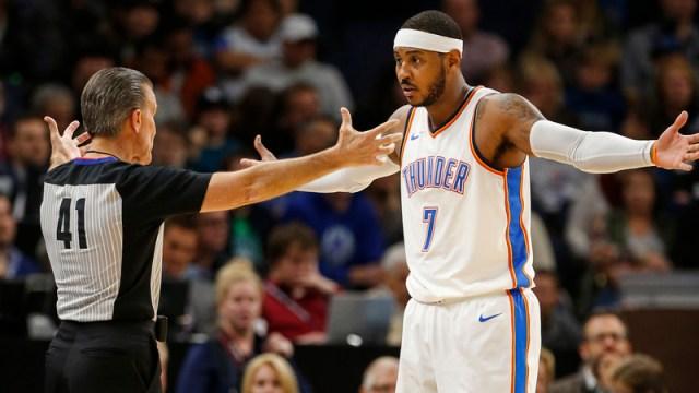 Thunder F Carmelo Anthony