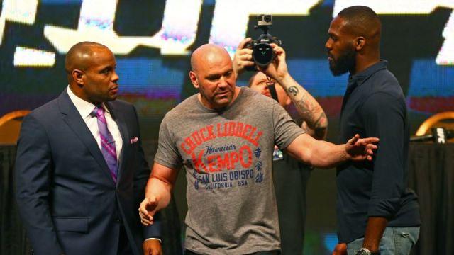 UFC fighters Daniel Cormier and Jon Jones