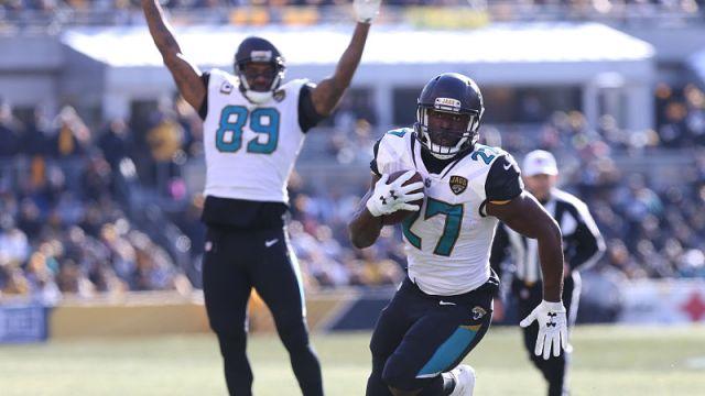 Jacksonville Jaguars running back Leonard Fournette
