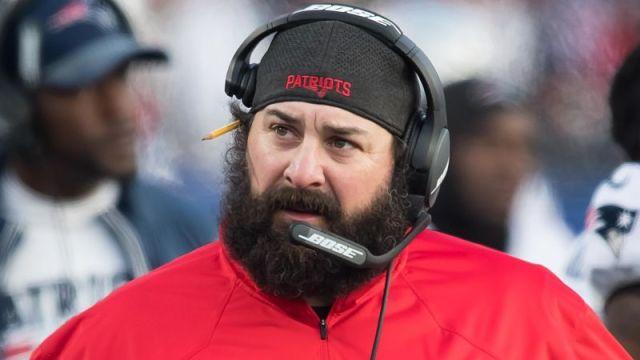 New England Patriots defensive coordinator Matt Patricia
