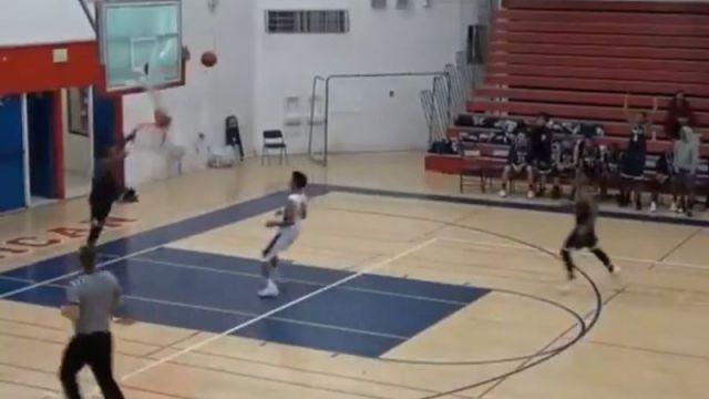 High school basketball player Michael Hayes