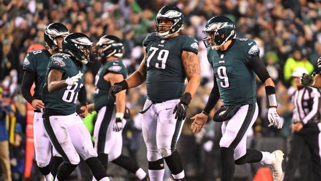 Philadelphia Eagles quarterback Nick Foles and wide receiver Torrey Smith