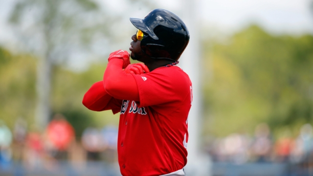 Boston Red Sox outfielder Rusney Castillo