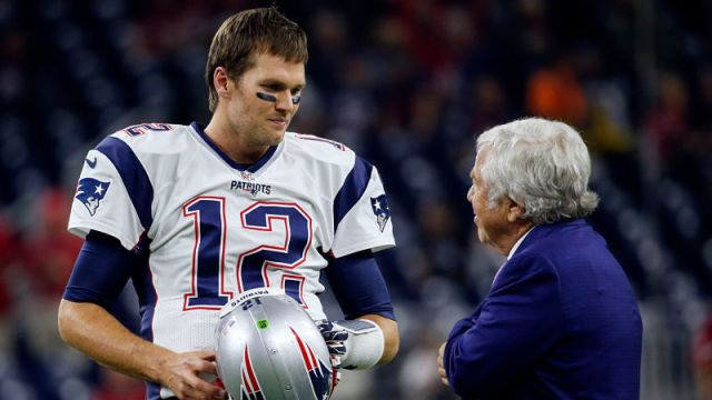 New England Patriots quarterback Tom Brady and owner Robert Kraft
