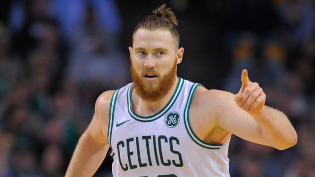 Boston Celtics center Aron Baynes