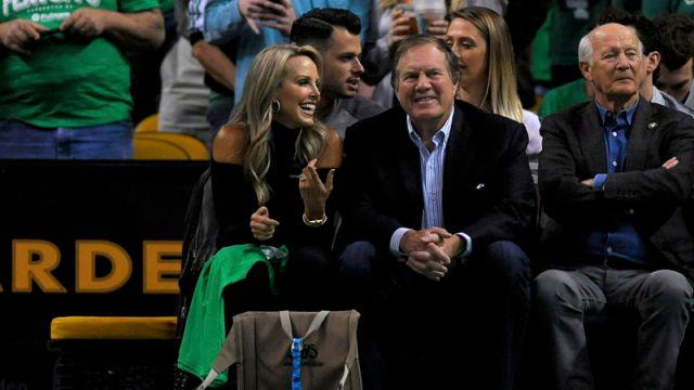 New England Patriots head coach Bill Belichick and girlfriend Linda Holliday