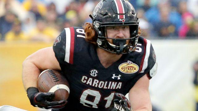 South Carolina Gamecocks tight end Hayden Hurst