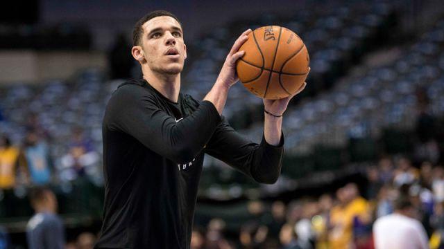 Los Angeles Lakers guard Lonzo Ball