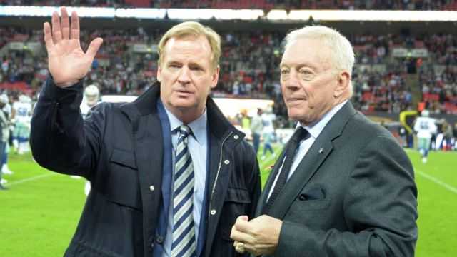 NFL commissioner Roger Goodell and Dallas Cowboys owner Jerry Jones