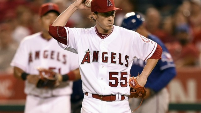 Los Angeles Angels starting pitcher Tim Lincecum