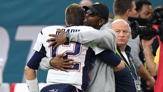 New England Patriots quarterback Tom Brady and Randy Moss