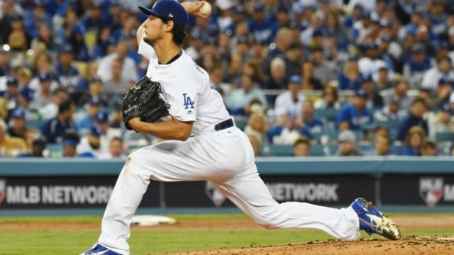 Los Angeles Dodgers starting pitcher Yu Darvish