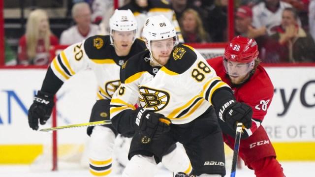 Boston Bruins forward Davis Pastrnak
