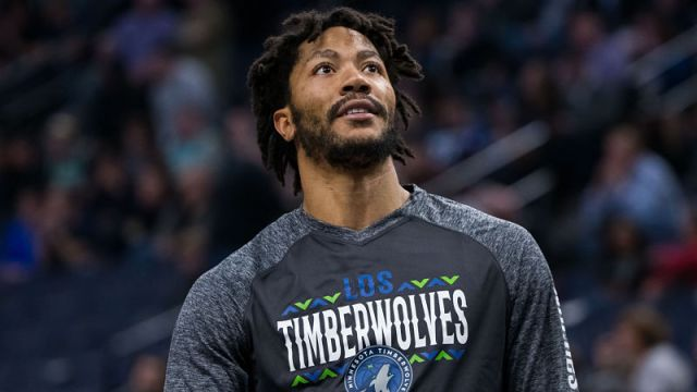 Minnesota Timberwolves guard Derrick Rose