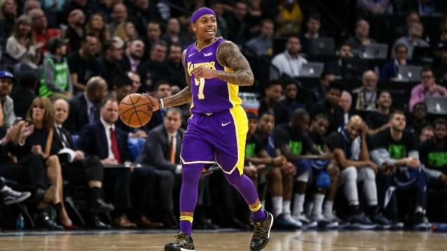 Los Angeles Lakers guard Isaiah Thomas
