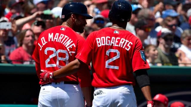 J.D. Martinez and Xander Bogaerts