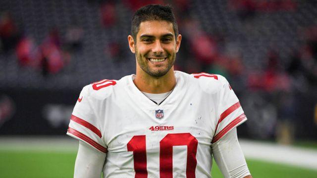 San Francisco 49ers quarterback Jimmy Garoppolo