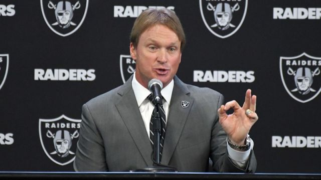 Oakland Raiders head coach Jon Gruden