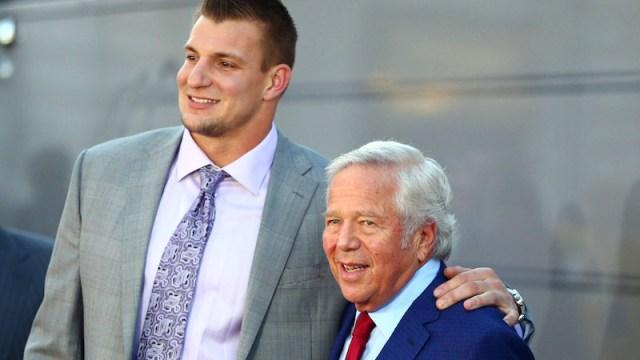 Patriots owner Robert Kraft, Rob Gronkowski