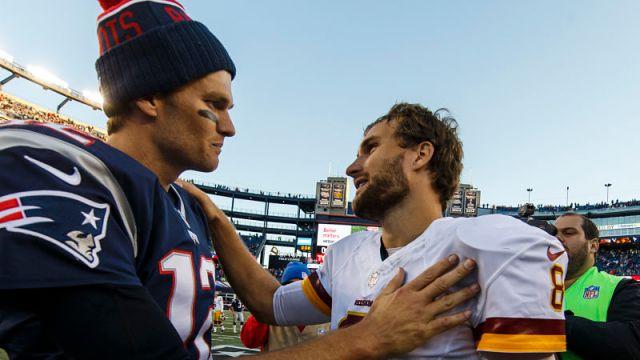 New England Patriots quarterback Tom Brady and Kirk Cousins