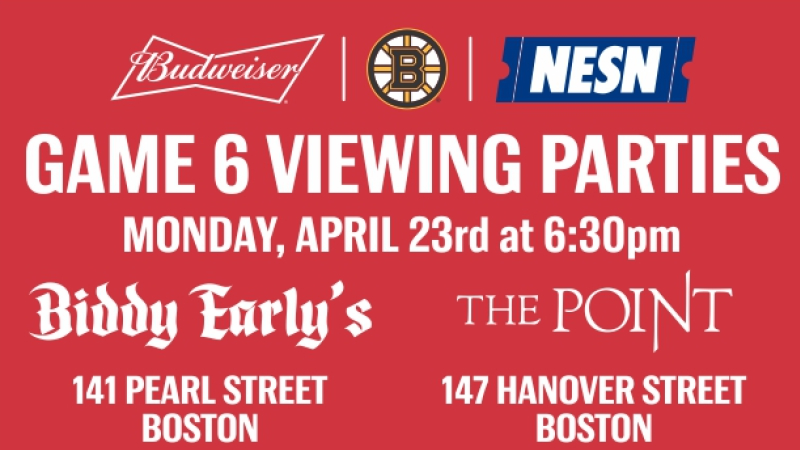 Biddy Early S The Point To Host Bruins Game 6 Budweiser Viewing Parties Nesn Com