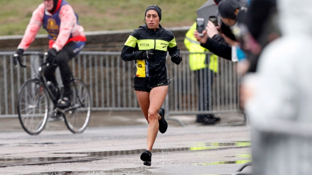 Boston Marathon winner Desiree Linden