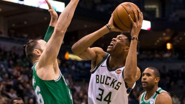 Milwaukee Bucks forward Giannis Antetokounmpo
