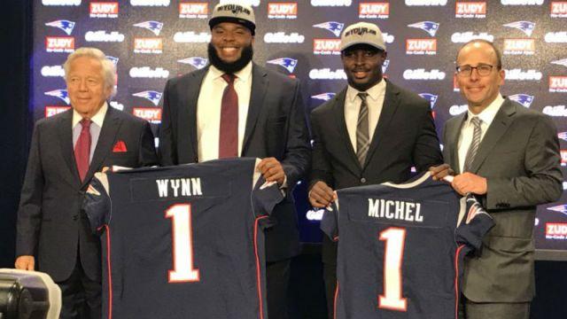 Patriots draft picks Isaiah Wynn, Sony Michel
