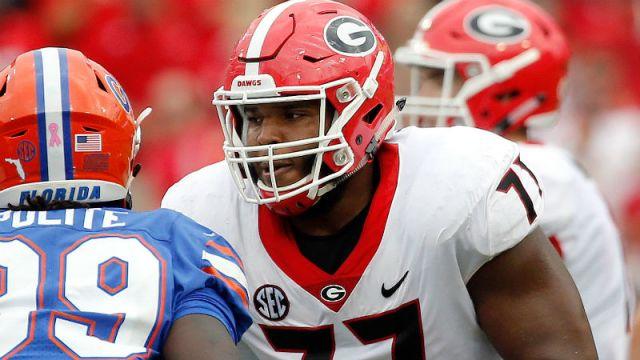 Georgia Bulldogs offensive tackle Isaiah Wynn
