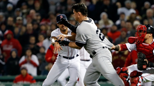 Boston Red Sox Pitcher Joe Kelly & New York Yankees Designated Hitter Tyler Austin